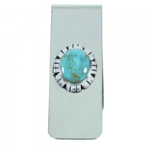 Turquoise Authentic Sterling Silver Southwestern Money Clip AX102015