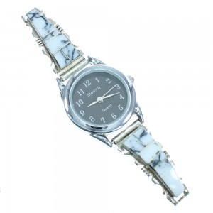 Howlite And Sterling Silver American Indian Watch RX101810