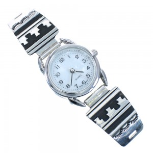 American Indian Genuine Sterling Silver Tommy And Rose Singer Watch RX101833