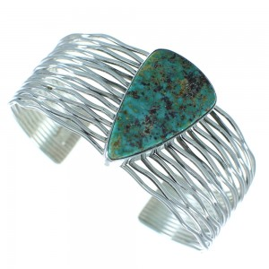 Turquoise Navajo Genuine Sterling Silver Cuff Bracelet AX101651