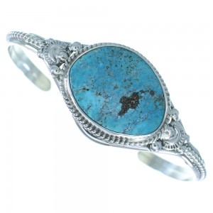 Navajo Blue Ridge Turquoise Sterling Silver Cuff Bracelet AX101738