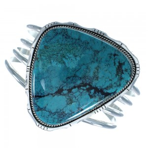 Turquoise Sterling Silver American Indian Jewelry Cuff Bracelet RX102101