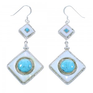 Turquoise and Mother of Pearl Earrings PS62143