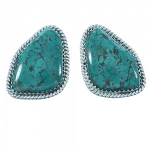 Genuine Sterling Silver Turquoise Native American Post Earrings RX103326