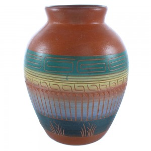 Hand Crafted Native American Pottery- Navajo Pot By Artist Cecelia Benally TX103720