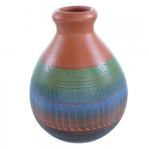 Hand Crafted Navajo Pottery- American Indian By Artist Cecelia Benally TX103681