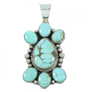 Native American Navajo Turquoise And Sterling Silver Pendant TX103952