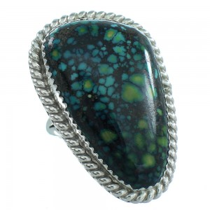 Navajo Sterling Silver Turquoise Ring Size 7-3/4 TX103998