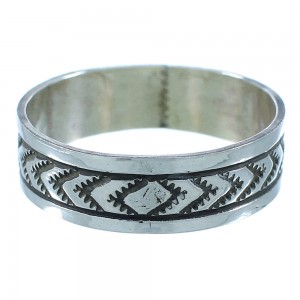 Genuine Sterling Silver Navajo Ring Size 13-1/4 SX104225