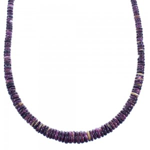 Navajo Purple Oyster Shell Bead Necklace SX104781
