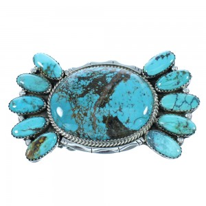Navajo Sterling Silver Turquoise Belt Buckle SX105043