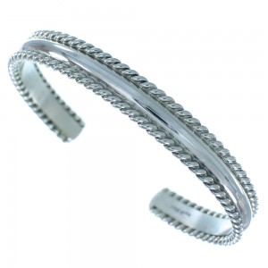 Native American Genuine Sterling Silver Cuff Bracelet SX105076