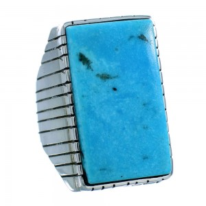 Navajo Ray Jack Authentic Sterling Silver Turquoise Ring Size 10 SX105763