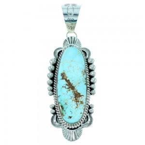 Royston Turquoise American Indian Genuine Sterling Silver Pendant SX105710