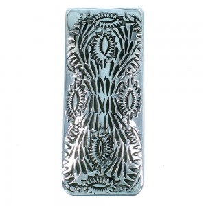 Native American Authentic Sterling Silver Money Clip SX105598
