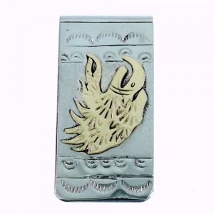 Sterling Silver And 12GKF Navajo Eagle Money Clip SX105617