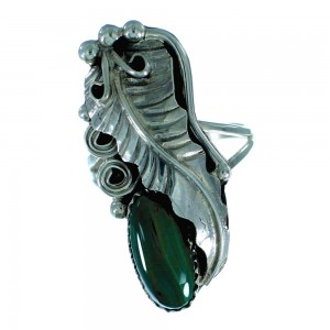 Navajo Malachite Authentic Sterling Silver Ring Size 8-3/4 RX106191