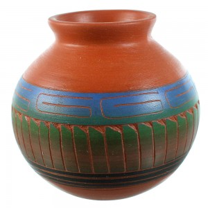 Navajo - American Indian Hand Crafted Pot RX106373