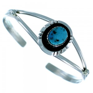 Sterling Silver Navajo Indian Turquoise Cuff Bracelet SX105931