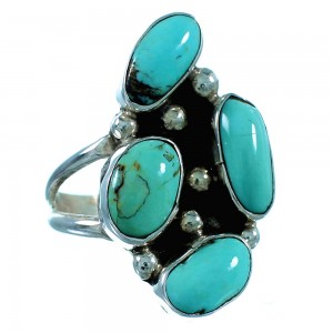 Sterling Silver And Turquoise Navajo Ring Size 6 SX106388