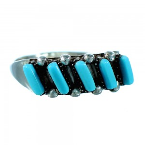 Sterling Silver Turquoise Zuni Indian Ring Size 6 Jewelry AW70825