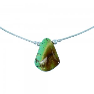 Turquoise Tear Drop Liquid Sterling Silver Necklace SX106511