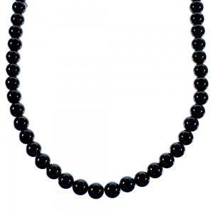 Onyx Sterling Silver Southwest Bead Necklace SX106657