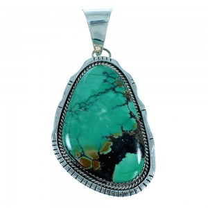 Navajo Turquoise And Sterling Silver Pendant SX106886