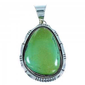 Turquoise Genuine Sterling Silver Navajo Pendant SX106889