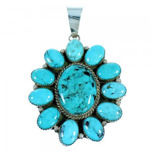 American Indian Turquoise And Sterling Silver Pendant SX106895