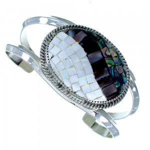 American Indian Abalone Shell Mother of Pearl Cuff Bracelet EX24930