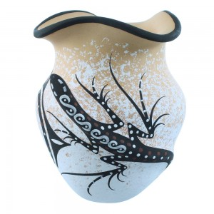 American Indian Zuni Gecko Pot Hand Crafted By Artists Deldrick And Lorenda Cellicion SX106942