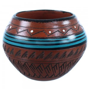 Native American Pot Navajo Hand Crafted By Artist Shyla Watchman SX108256
