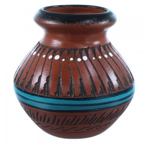 Native American Hand Crafted Pot By Navajo Shyla Watchman SX108223