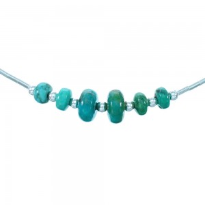 Liquid Sterling Silver Turquoise Bead Necklace SX108747