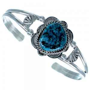 Sterling Silver Turquoise American Indian Cuff Bracelet RX109283