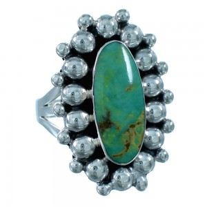 Turquoise Authentic Sterling Silver American Indian Ring Size Size 6 RX109409