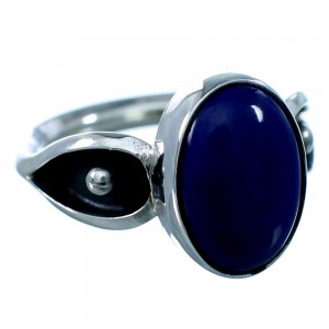Navajo Lapis And Sterling Silver Ring Size 6 SX109445