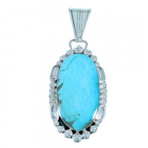 Turquoise Native American Sterling Silver Pendant SX109577