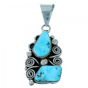 Turquoise And Sterling Silver American Indian Pendant RX110301