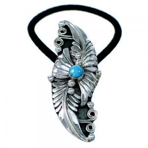 Sterling Silver Turquoise Feather Hair Band RX110814