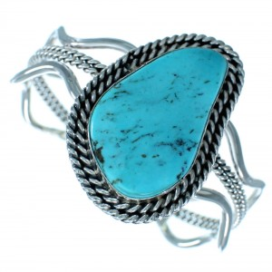 Native American Sterling Silver And Turquoise Cuff Bracelet SX111224