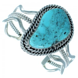 Genuine Sterling Silver Turquoise Navajo Cuff Bracelet SX111225