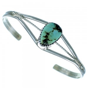 American Indian Sterling Silver And Turquoise Cuff Bracelet RX111386