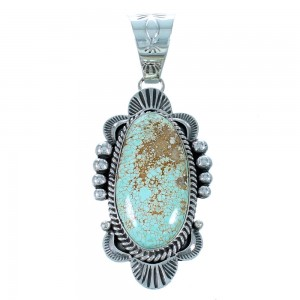Navajo #8 Turquoise Sterling Silver Pendant SX111429