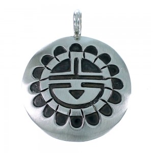 Sunface Sterling Silver Navajo Pendant RX111496