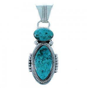 Navajo Sterling Silver Turquoise Pendant RX111527