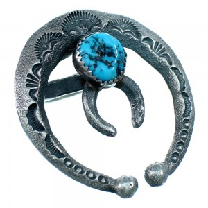 Naja Old Pawn Style Turquoise Navajo Ring Size 6-1/2 LX112865