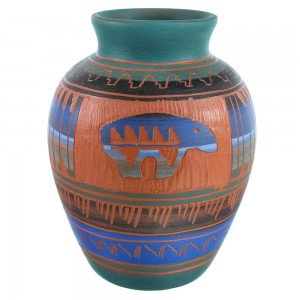 Navajo Bear Pot Hand Crafted By Bernice Watchman Lee SX112120