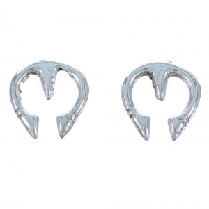 Navajo Sterling Silver Naja Post Earrings RX112387